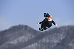 February 12, 2018 - Pyeongchang, South Korea - ENNI RUKAJARVI of Finland on her bronze medal run in the Womens Snowboard Slopestyle finals at Phoenix Snow Park at the Pyeongchang Winter Olympic Games.  Photo by Mark Reis, ZUMA Press/The Gazette (Credit Image: © Mark Reis via ZUMA Wire)
