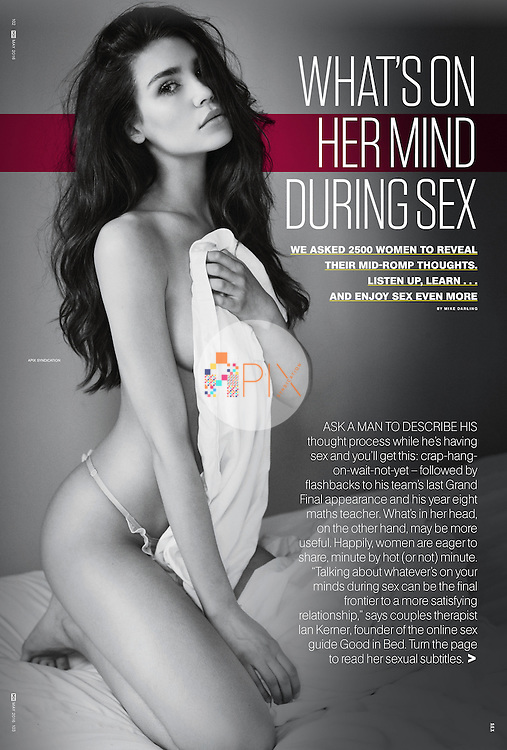 For the May issue of Men's Health, thousands of women were asked 'to reveal their mid-romp thoughts' for the benefit of mankind!  <br />