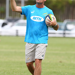 Jacques Nienaber during the cell c sharks training session at  Growthpoint Kings Park 13,02,2018 Photo by Steve Haag)