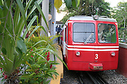 Rio de Janeiro_RJ, Brasil.<br /> <br /> Trem que sai da Estacao do Corcovado, em Laranjeiras, para chegar ao topo do Corcovado no Rio de Janeiro.<br /> <br /> Train coming out of the Corcovado railway in Orange, to reach the top of Corcovado in Rio de Janeiro.<br /> <br /> Foto: MARCUS DESIMONI / NITRO