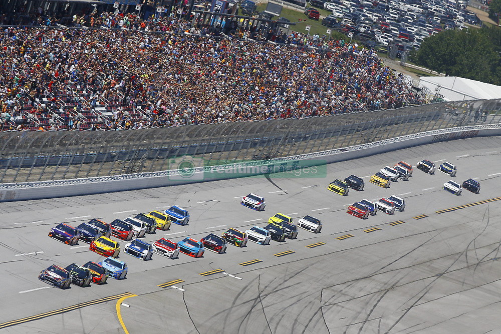 April 29, 2018 - Talladega, Alabama, United States of America - The Monster Energy NASCAR Cup Series cars race down the frontstretch during the GEICO 500 at Talladega Superspeedway in Talladega, Alabama. (Credit Image: © Chris Owens Asp Inc/ASP via ZUMA Wire)