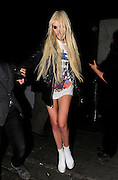 13.JUNE.2011. LONDON<br /> <br /> AMERICAN ACTRESS AND SINGER TAYLOR MOMSEN LEAVING THE EMBASSY CLUB IN MAYFAIR, LONDON AT 3AM CLUTCHING A CIGARETTE! <br /> <br /> BYLINE: EDBIMAGEARCHIVE.COM<br /> <br /> *THIS IMAGE IS STRICTLY FOR UK NEWSPAPERS AND MAGAZINES ONLY*<br /> *FOR WORLD WIDE SALES AND WEB USE PLEASE CONTACT EDBIMAGEARCHIVE - 0208 954 5968*