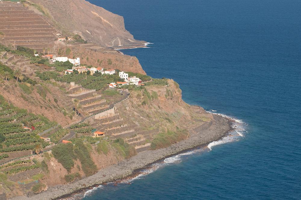 The town of Hermigua,La Gomera, Canary Islands, Spain