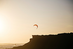 Kitesurfer along Echo Beach, Bali, Indonesia, Southeast Asia