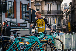 DE TIER Floris of Team LottoNL-Jumbo before the UCI WorldTour 103rd Liège-Bastogne-Liège from Liège to Ans with 258 km of racing at Liège (258 km to go), Belgium, 23 April 2017. Photo by Pim Nijland / PelotonPhotos.com | All photos usage must carry mandatory copyright credit (Peloton Photos | Pim Nijland)