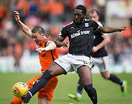 July 30th 2017, Dundee, Scotland; Betfred Cup football, group stages, Dundee versus Dundee United; Dundee&rsquo;s Roarie Deacon tackles Dundee United's Thomas Scobbie<br /> <br />  - Picture by David Young - www.davidyounghoto@gmail.com - email: davidyoungphoto@gmail.com