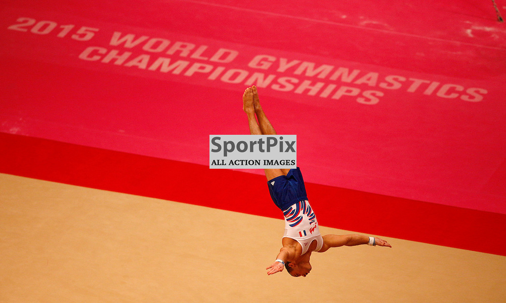 2015 Artistic Gymnastics World Championships being held in Glasgow from 23rd October to 1st November 2015.....Samir Ait Said (France) competing in the Floor Exercise competition..(c) STEPHEN LAWSON | SportPix.org.uk