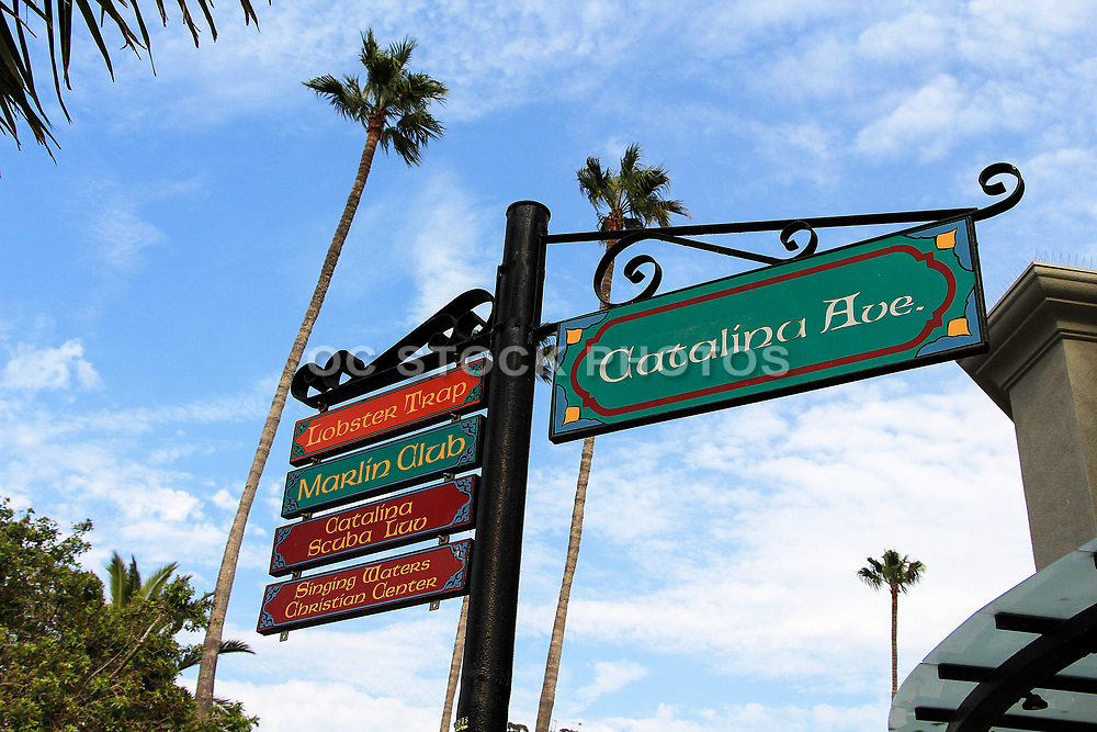 Catalina Ave. Street Sign in Downtown Avalon Catalina Island
