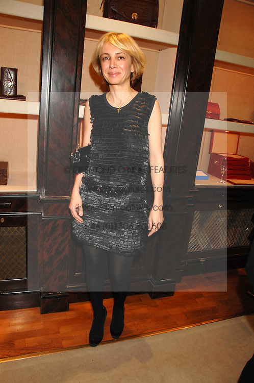 SAHAR HASHEMI at a party to celebrate the launch of the book 'Long Way Down' by Ewan McGregor and Charley Boorman held at Smythson, 40 New Bond Street, London W1 on 19th November 2007,<br />
