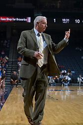 George Washington Colonials head coach Joe McKeown..The Virginia Cavaliers women's basketball team fell to the #14 ranked George Washington Colonials 70-68 at the John Paul Jones Arena in Charlottesville, VA on November 12, 2007.
