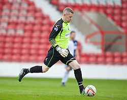 WREXHAM, WALES - Saturday, May 3, 2014: The New Saints' goalkeeper Paul Harrison in action against Aberystwyth Town during the Welsh Cup Final at the Racecourse Ground. (Pic by David Rawcliffe/Propaganda)