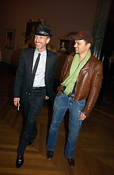 Left to right, PATRICK COX and GERRY DE VEAUX at the opening of The National Cafe and an exclusive private view of the National Gallery's Valazquez Exhibition, at The National Gallery, Trafalgar Square, London on 26th October 2006.<br /><br />NON EXCLUSIVE - WORLD RIGHTS