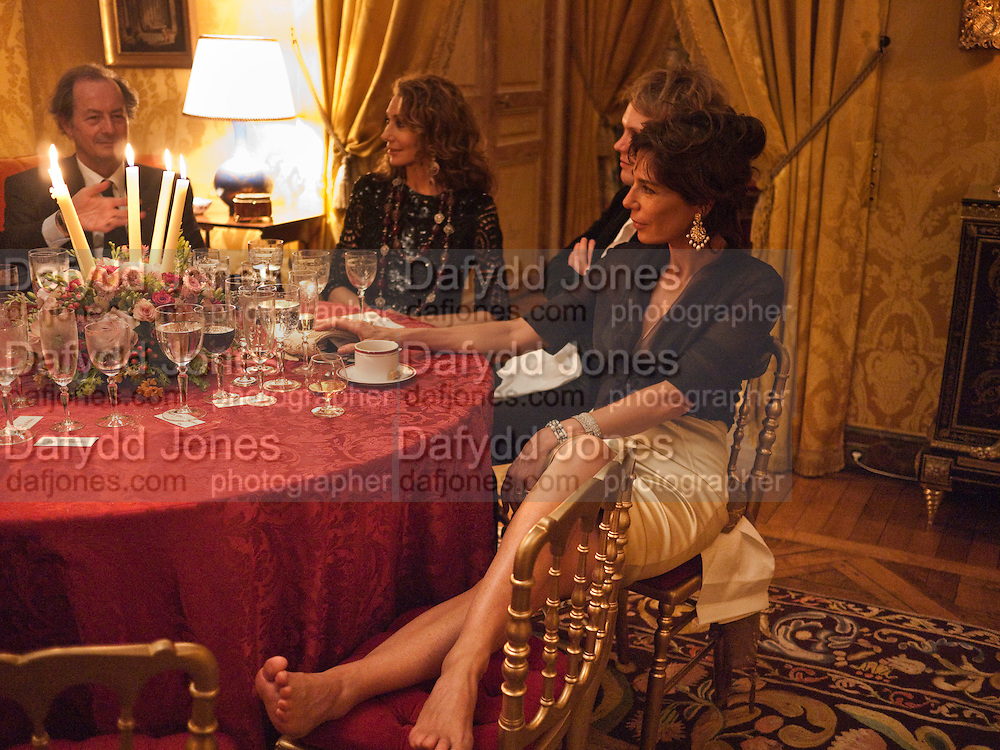 MARISSA BERENSON; FLORIAN ZELLER; CHRISTINE ORBAN, Dinner for Jacqueline de Ribes after Legion d'honneur award. 50 Rue de la Bienfaisance. Paris.