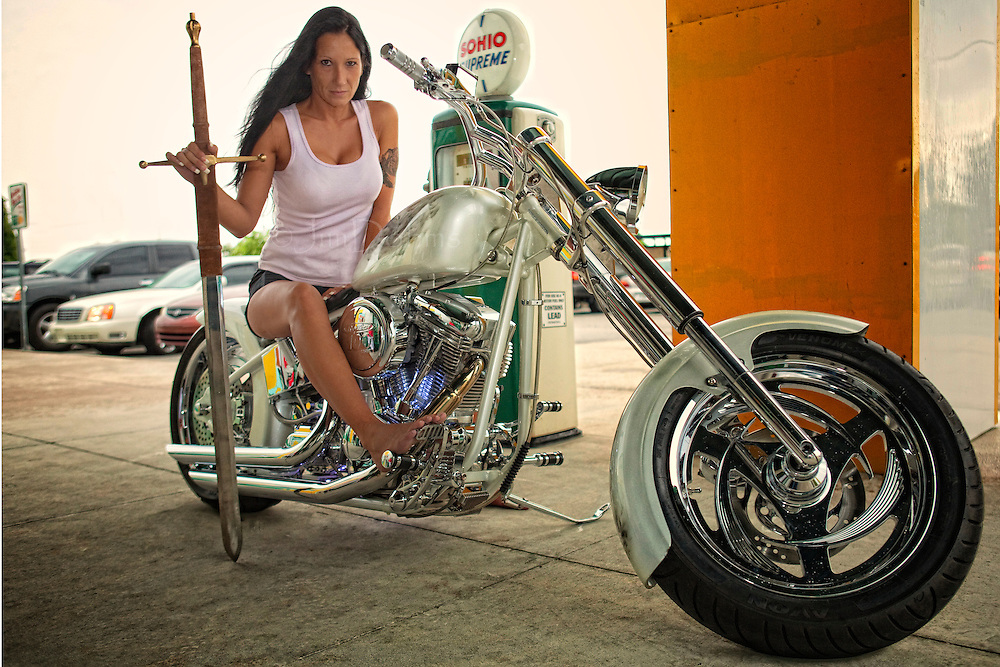 Babs on the Riding With Angels Battle Bike