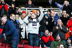 Bristol Rugby fans celebrate a try - Rogan Thomson/JMP - 26/12/2016 - RUGBY UNION - Ashton Gate Stadium - Bristol, England - Bristol Rugby v Worcester Warriors - Aviva Premiership Boxing Day Clash.