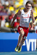 Karol Zalewski from Poland competes in men's 200 meters qualification during the 14th IAAF World Athletics Championships at the Luzhniki stadium in Moscow on August 16, 2013.<br /> <br /> Russian Federation, Moscow, August 16, 2013<br /> <br /> Picture also available in RAW (NEF) or TIFF format on special request.<br /> <br /> For editorial use only. Any commercial or promotional use requires permission.<br /> <br /> Mandatory credit:<br /> Photo by © Adam Nurkiewicz / Mediasport
