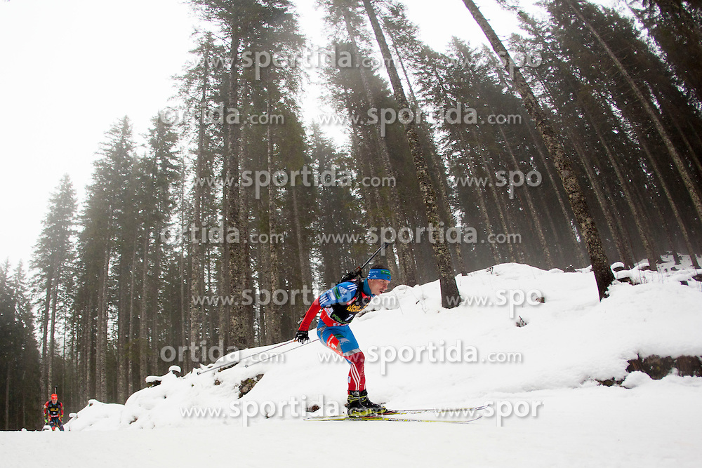 USTYUGOV Evgeny of Russia during Man 12,5km Pursuit competition of the e.on IBU Biathlon World Cup on Saterday, December 15, 2012 in Pokljuka, Slovenia. The third e.on IBU World Cup stage is taking place in Rudno polje - Pokljuka, Slovenia until Sunday December 16, 2012. (photo by Urban Urbanc / Sportida.com)