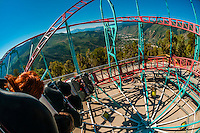 Cliffhanger Roller Coaster (the highest elevation roller coaster in North America), Glenwood Caverns Adventure Park, Glenwood Springs, Colorado USA