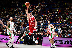 April 29, 2018 - Milan, Milan, Italy - Rotnei Clarke (#11 VL Pesaro) shoots a layup during a basketball game of Poste Mobile Lega Basket A between  EA7 Emporio Armani Milano vs VL Pesaro at Mediolanum Forum, in Milan, Italy, on April 29, 2018. (Credit Image: © Roberto Finizio/NurPhoto via ZUMA Press)