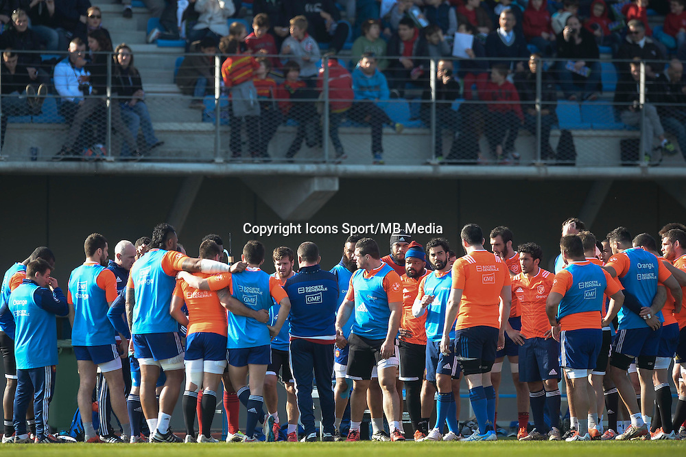 Groupe France - 11.03.2015 - Rugby -Entrainement France -Marcoussis<br /> Photo : Andre Ferreira / Icon Sport