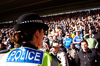 Photo: Alan Crowhurst.<br />Southampton v Cardiff City. Coca Cola Championship. 01/04/2006. The police watch the Cardiff fans.