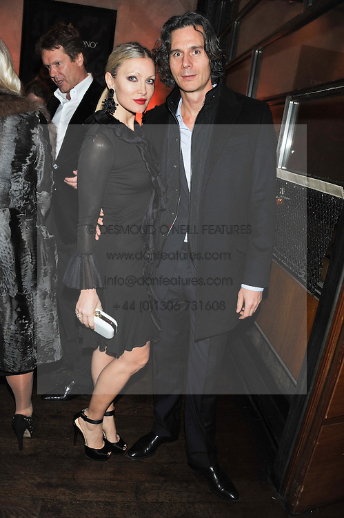 CAPRICE and TY COMFORT at a dinner hosted by de Grisogono at 17 Berkeley Street, London on 12th November 2012.