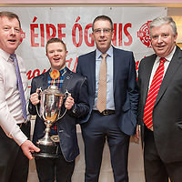 Donal O hAinifein, SAm Woodes, Gerry O'Connor and Maurice Walsh at the Éire Óg Celebration night in the Auburn Lodge