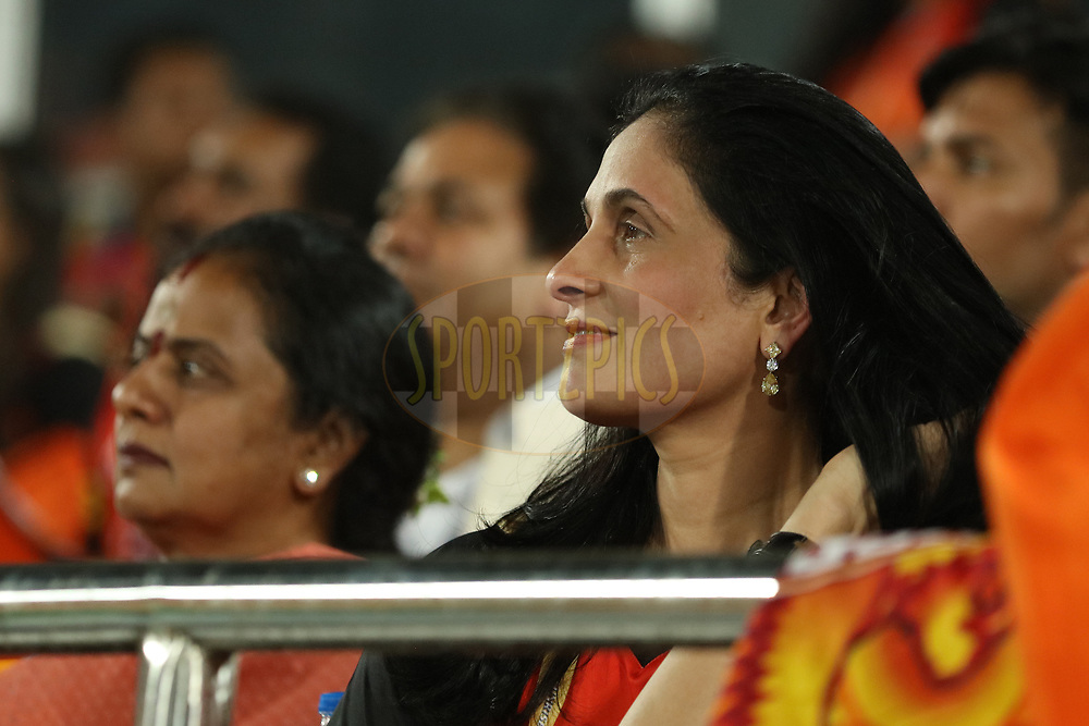 Sunrisers team co owner during match twenty five of the Vivo Indian Premier League 2018 (IPL 2018) between the Sunrisers Hyderabad and the Kings XI Punjab  held at the Rajiv Gandhi International Cricket Stadium in Hyderabad on the 26th April 2018.<br /> <br /> Photo by Saikat Das /SPORTZPICS for BCCI