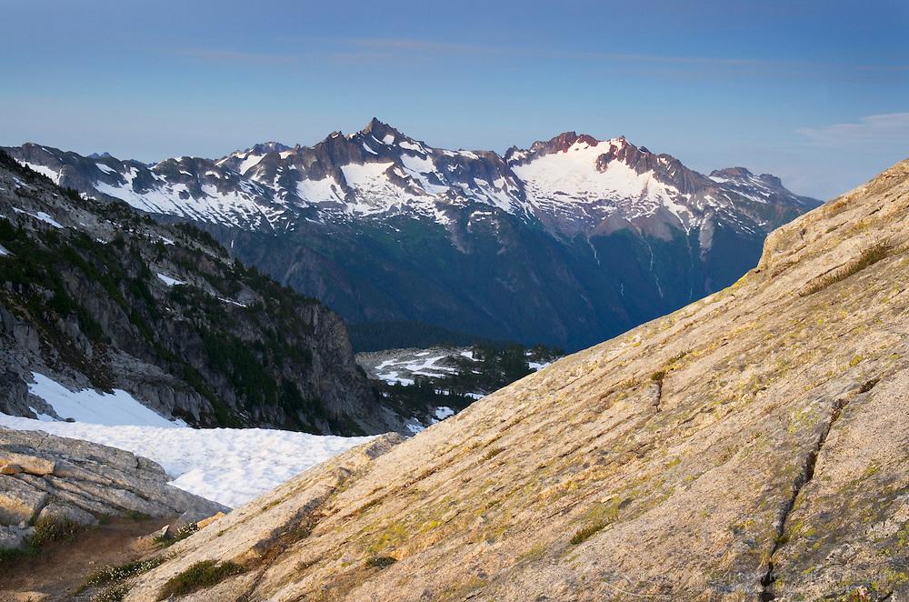 Forbidden and Boston Peaks from Hidden Lake Peak, North Cascades