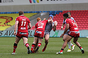 Josh Wood for Salford Reds during the Betfred Super League match between Salford Red Devils and Catalan Dragons at the AJ Bell Stadium, Eccles, United Kingdom on 30 March 2018. Picture by George Franks.