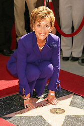 Judge Judy Sheindlin receives her star on the Hollywood Walk of Fame.