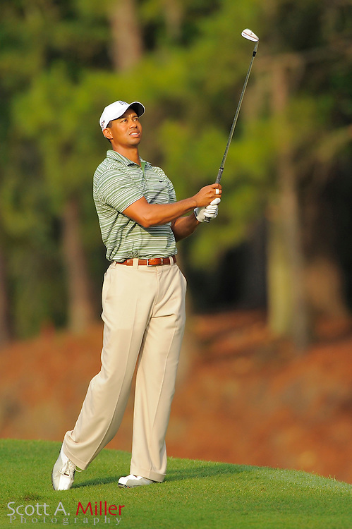 Tiger Woods on the 10th hole during the first round of the Players Championship at TPC Sawgrass on May 7, 2009 in Ponte Vedra Beach, Florida.     ©2009 Scott A. Miller