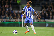 Brighton and Hove Albion defender Gaetan Bong (3) during the Premier League match between Brighton and Hove Albion and Tottenham Hotspur at the American Express Community Stadium, Brighton and Hove, England on 17 April 2018. Picture by Phil Duncan.