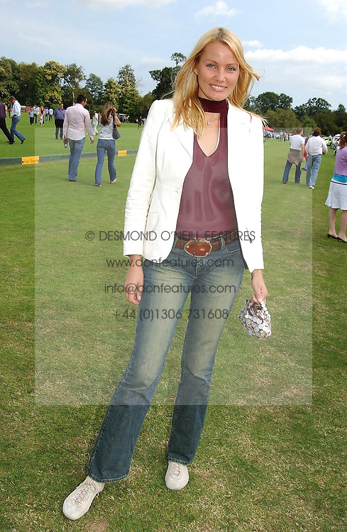 Model KAJA WUNDER at the Veuve Clicquot sponsored Gold Cup or the British Open Polo Championship won by The  Azzura polo team who beat The Dubai polo team 17-9 at Cowdray Park, West Sussex on 18th July 2004.