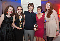 NUIG students and Best Buddies Volunteers Eibhlin Sharkey, Siun O Rourke, Conor Keville, Alice Deane and Jo McGrath  at the Ability WestBest Buddies ball at the Menlo Park Hotel, Galway. Photo:Andrew Downes Photography.