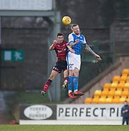 30th December 2017, McDiarmid Park, Perth, Scotland; Scottish Premiership football, St Johnstone versus Dundee; St Johnstone's Denny Johnstone and Dundee's Cammy Kerr compete in the air