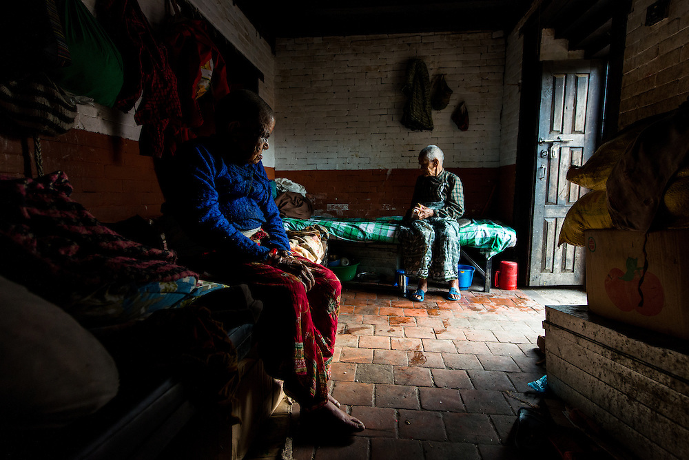 A scene from the old age home in Pashupathinath Temple. A place which just leaves one wondering, &quot;how could someone just abandon their parents at this age&quot;<br /> <br /> Nikon D800 | Nikkor 14-24mm | f4.5 | 1/200 | ISO 1600