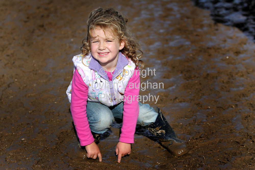 29/9/2006.Catherine Kavanagh aged 4 from Borris in County Carlow pictured at the World Ploughing Championships in Carlow yesterday ..Picture Dylan Vaughan.