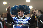 Queens Park Rangers fan during the Sky Bet Championship match between Queens Park Rangers and Sheffield Wednesday at the Loftus Road Stadium, London, England on 20 October 2015. Photo by Jemma Phillips.