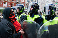 "Conflict between police and rioters at ""March for the Alternative"" protest 26 March 2011"