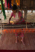 Woman weaving<br /> Assam<br /> North East India