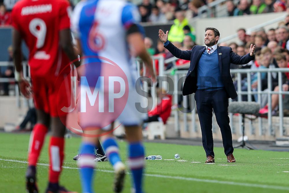 Bristol City manager Lee Johnson - Rogan Thomson/JMP - 22/10/2016 - FOOTBALL - Ashton Gate Stadium - Bristol, England - Bristol City v Blackburn Rovers - Sky Bet EFL Championship.