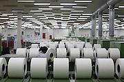 Montes Claros_MG, Brasil.<br /> <br /> Rolos de algodao na penteadeira no setor de fiacao da fabrica de Tecidos em Montes Claros, Minas Gerais.<br /> <br /> <br /> Cotton rolls in the textile factory in Montes Claros, Minas Gerais.<br /> <br /> Foto: LEO DRUMOND / NITRO