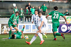 Amadej Maroša of Mura, Ivica Batarelo of Krsko and Nino Kouter of Mura during football match between NŠ Mura and NK Domžale in 23rd Round of Prva liga Telekom Slovenije 2018/19, on March 02, 2019 in Fazanerija, Murska Sobota, Slovenia. Photo by Blaž Weindorfer / Sportida