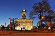 St. Boniface City Hall at night<br /> Winnipeg<br /> Manitoba<br /> Canada