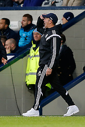 West Brom Manager Tony Pulis reacts with frustration after a shot from Craig Dawson of West Brom rattles the crossbar to go over - Photo mandatory by-line: Rogan Thomson/JMP - 07966 386802 - 31/01/2015 - SPORT - FOOTBALL - West Bromwich, England - The Hawthorns - West Bromwich Albion v Tottenham Hotspur - Barclays Premier League.