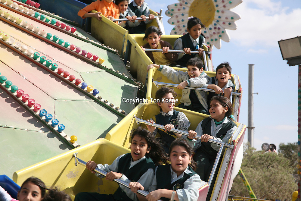 school trip to the city fair, Amman, Jordan