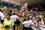 DESCRIZIONE : Reggio Emilia Lega A 2014-15 Grissin Bon Reggio Emilia - Banco di Sardegna Dinamo Sassari playoff Finale gara 5 <br /> GIOCATORE : tifosi<br /> CATEGORIA : esultanza postgame tifosi<br /> SQUADRA : Grissin Bon Reggio Emilia<br /> EVENTO : LegaBasket Serie A Beko 2014/2015<br /> GARA : Grissin Bon Reggio Emilia - Banco di Sardegna Dinamo Sassari playoff Finale gara 5<br /> DATA : 22/06/2015 <br /> SPORT : Pallacanestro <br /> AUTORE : Agenzia Ciamillo-Castoria/GiulioCiamillo<br /> Galleria : Lega Basket A 2014-2015 Fotonotizia : Reggio Emilia Lega A 2014-15 Grissin Bon Reggio Emilia - Banco di Sardegna Dinamo Sassari playoff Finale  gara 5<br /> Predefinita :