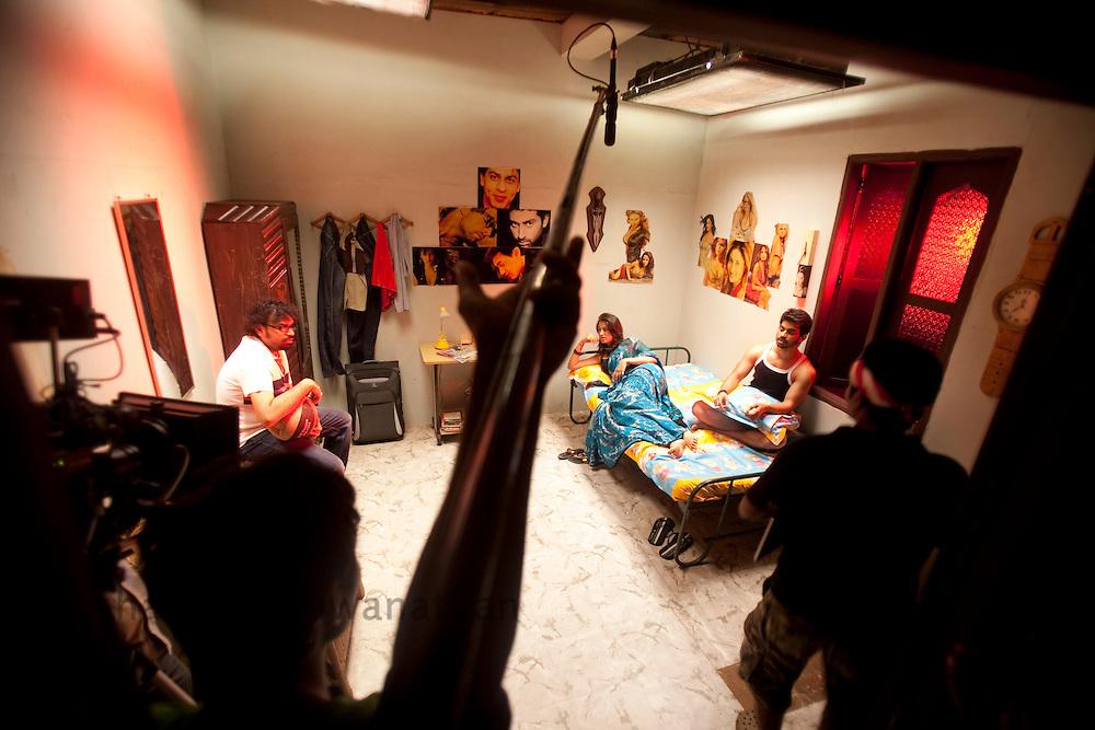 A scene from a movie is shot Mangata at a location in Chennai, India, on Wednesday, January 12, 2011. Photographer: Prashanth Vishwanathan/HELSINGIN SANOMAT