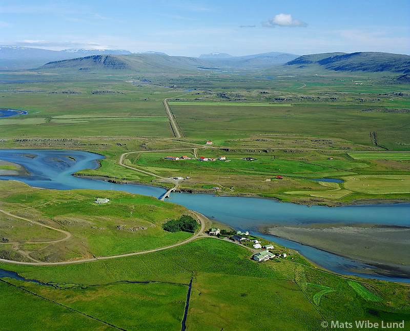 Ferjukot séð til austurs, Borgarbyggð áður Borgarhreppur / Ferjukot viewing east, Borgarbyggd former Borgarhreppur.